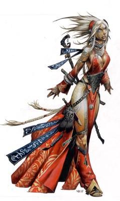 Seoni - Pathfinder's iconic sorceress