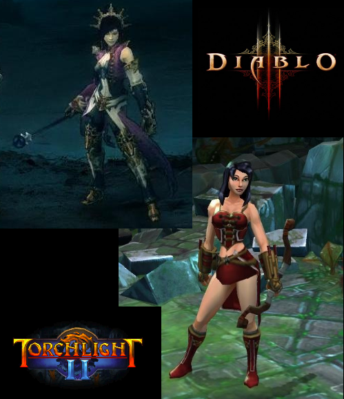 Torchlight and Diablo art comparison